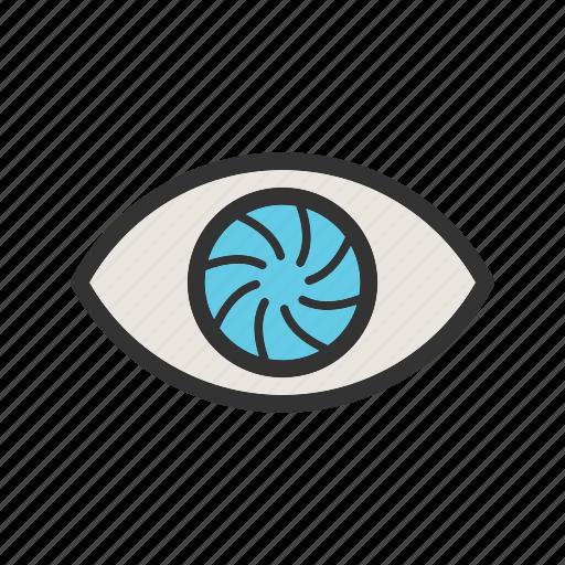 art, beautiful, eye, eyeball, image, red, reflection icon