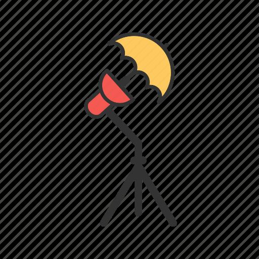 camera, light, photographer, photography, studio, umbrella icon