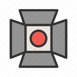 camera, film, light, lights, production, stage, studio icon