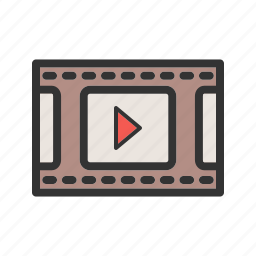 camera, entertainment, film, movie, reel, roll, video icon