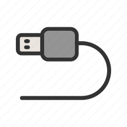 cable, camera, device, plug, power, technology, usb icon