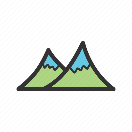 beauty, green, landscape, mountain, mountains, nature, sky icon