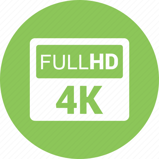 full hd, hd, movie, sign, video icon