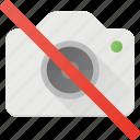 camera, disallow, image, no, photo, photography icon