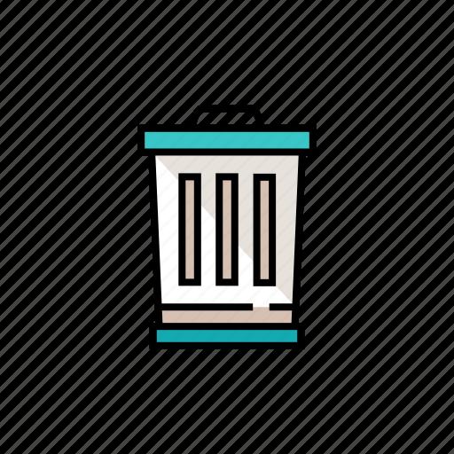 bin, delete, empty, erase, trash icon