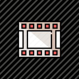 film, movie, photogram, photography, strip icon
