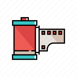 analogy, film, film roll, film strip, photography icon