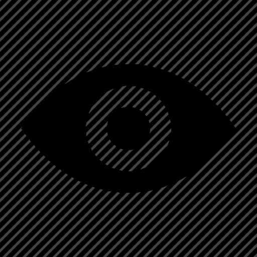 eye, lens, retina, view, visible icon
