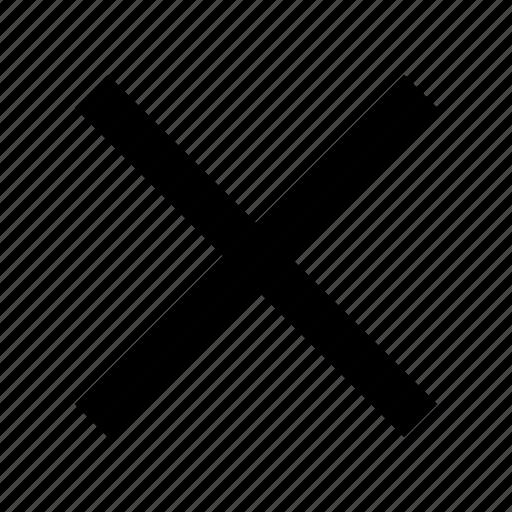 close, delete, multiply icon