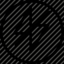 camera, circle, creative, effect, flash, grid, image, less-light, light, line, mode, natural, nature, no, no-flash, option, photo, photos, shape, slash, strike icon