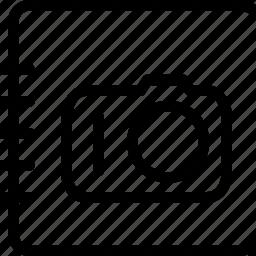 album, camera, celebration, collection, copy, creative, events, festival, gallery, grid, guardar, image, images, line, list, marriage, memory, paste, photo, photo-album, photos, remembrance, save, shape, sort, trips icon