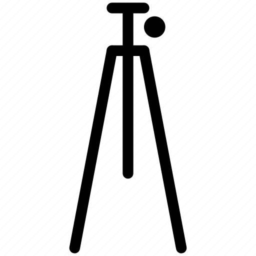 adjustable, camera, cinema, creative, equipment, film, function, grid, height, image, line, media, movie, photo, photography, photos, placement, player, rest, shape, stability, stand, tripod, video icon