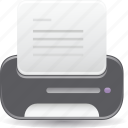document, file, folder, print icon