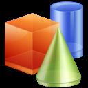 3d, geometric, graphics icon