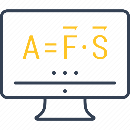 Computer, formula, physics icon - Download on Iconfinder