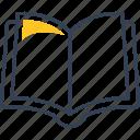 book, lesson, physics icon