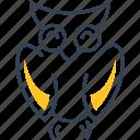 bird, owl, physics icon