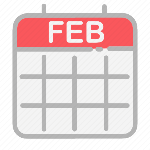 calendar, date, dates, february, month, numbers, ui icon