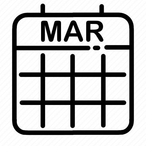 calendar, date, dates, march, month, numbers, ui icon