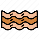 bacon, bacons, strips icon