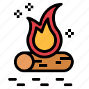 bonfire, camp, camping, fire icon