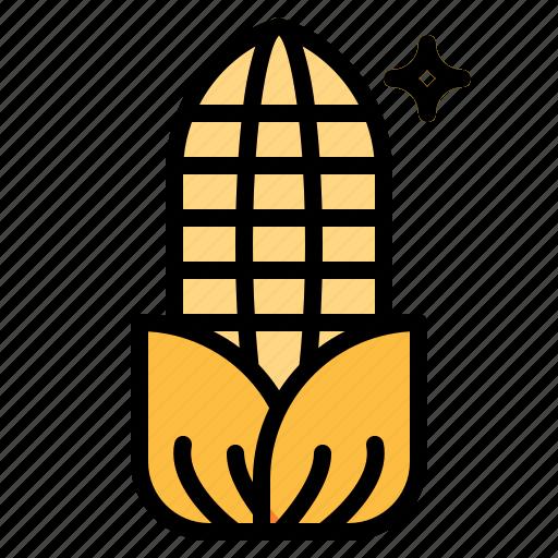 cereal, corn, vegan, vegetarian icon