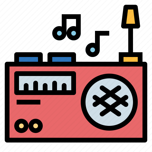 fm, music, radio, transistor icon