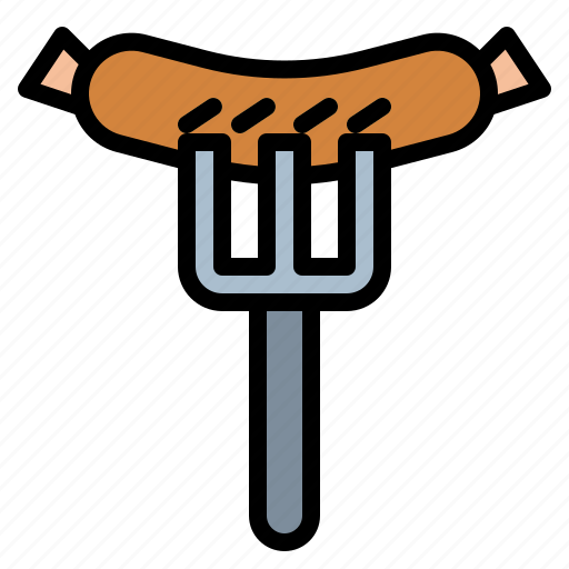 barbecue, fast, food, junk, sausage icon