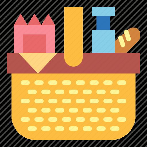 basket, camping, picnic icon