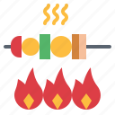barbecue, bbq, grill, kebab, skewer icon