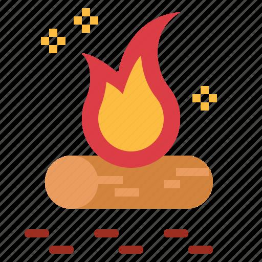 bonfire, camp, camping, fire icon