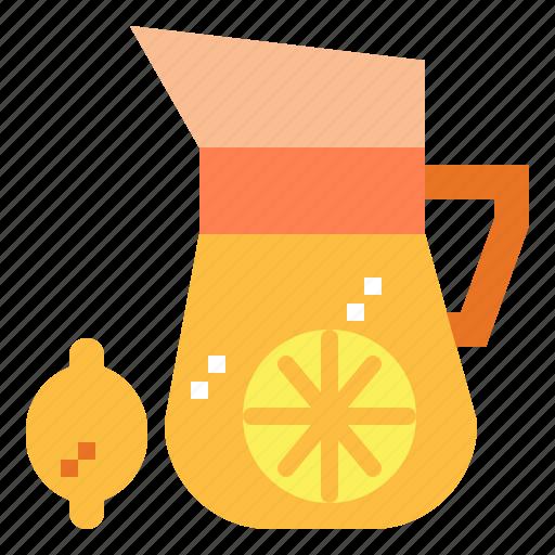 beverage, drink, lemon, lemonade icon