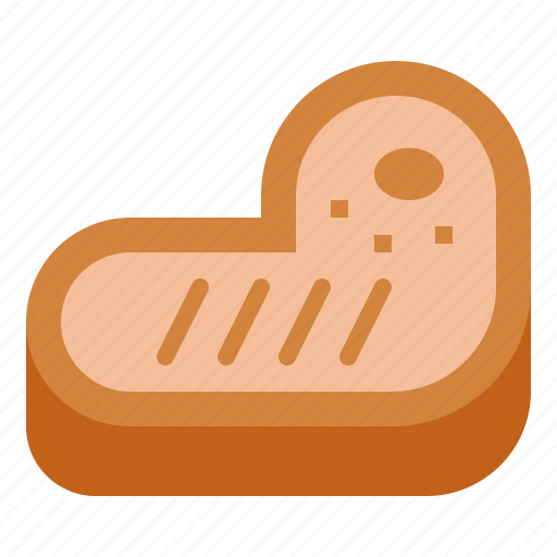 barbecue, grilled, meat, steak icon