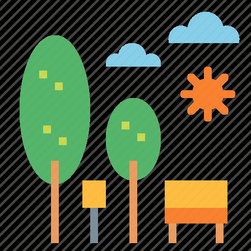 leisure, nature, park, trees icon