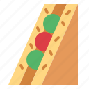 bread, meal, sandwich, snack icon