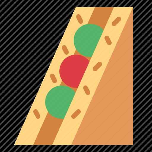 bread, meal, sandwich, snack icon