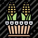 corn, crop, food, harvest, plant icon