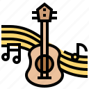 entertainment, guitar, instrument, music, note