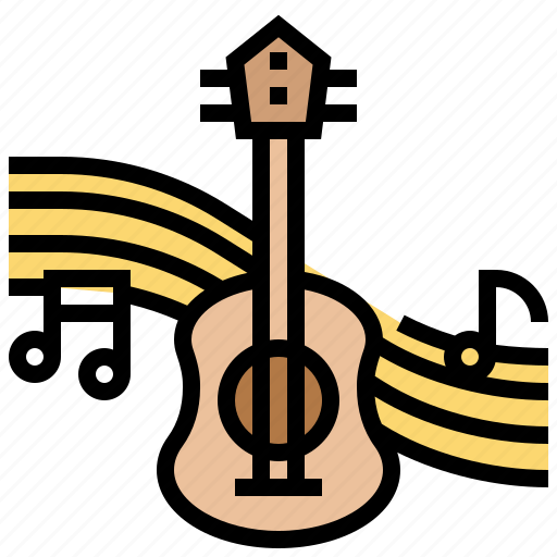 entertainment, guitar, instrument, music, note icon
