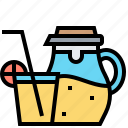 beverage, cocktail, juice, lemonade, party icon