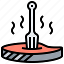 grill, meal, meat, pork, steak icon