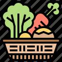 food, healthy, organic, vegetable, vitamin icon