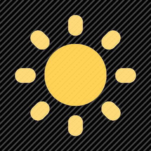 happy, picnic, sun icon