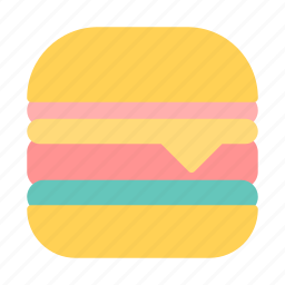 burger, food, picnic icon
