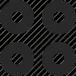 circles, design, grid, ornament, pattern, system icon