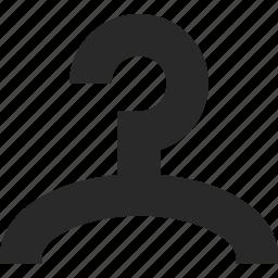 apperel, clothes, hanger, hook, rack, storage icon