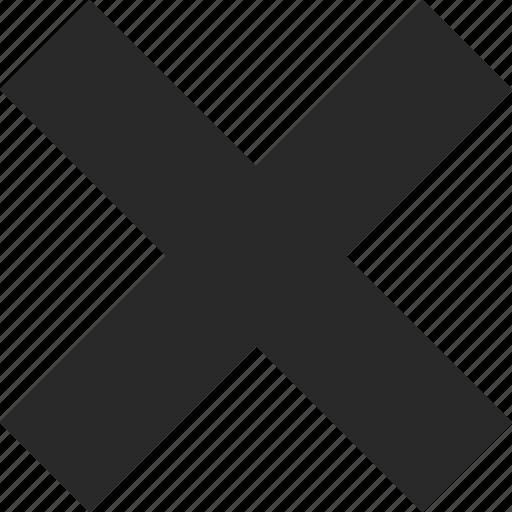 close, cross, escape, exit, remove icon