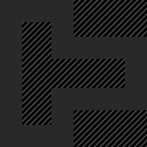 angle, box, corner, corners, shape, tetris icon