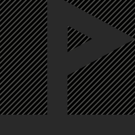 banner, destination, flag, goal, golf, location, mark icon