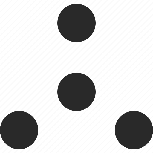 ballance, center, dots, rotation, triangle icon